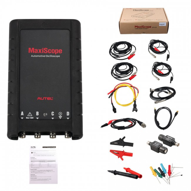 [US/EUR Ship No Tax] Autel MaxiScope MP408 Automotive Oscilloscope 4 Channel Basic Kit work with PC & MaxiSys Tools