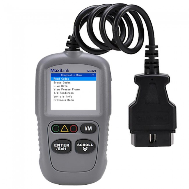Autel MaxiLink ML329 Code Reader Engine Fault CAN Scan Tool with Patented One-Click I/M & AutoVIN Upgrade Version of AL319