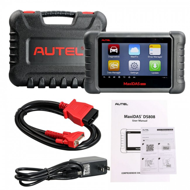 Autel MaxiDAS DS808 Automotive Diagnostic Tool Standard Set Support Injector Coding Without OBD1 Cables DHL Free Shipping
