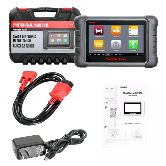 Autel MaxiCheck MX808 Automotive Diagnostic Tool OBD2 Code Reader with Android Tablet Ship Autel MaxiCOM MK808 Instead