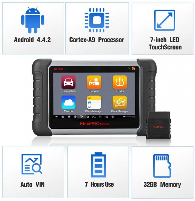Autel MaxiPRO MP808TS Diagnostic Tool support WIFI/ Bluetooth with Complete TPMS Service and Diagnostic Functions