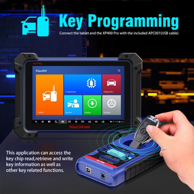Autel MaxiIM IM608 Key Programming Tool comes with XP400 and J2534 MaxiFlash VCI Support Multiple Languages (No IP Bloking Problem)
