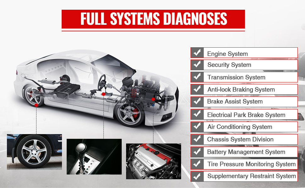 Complete Full System Diagnostic Functions