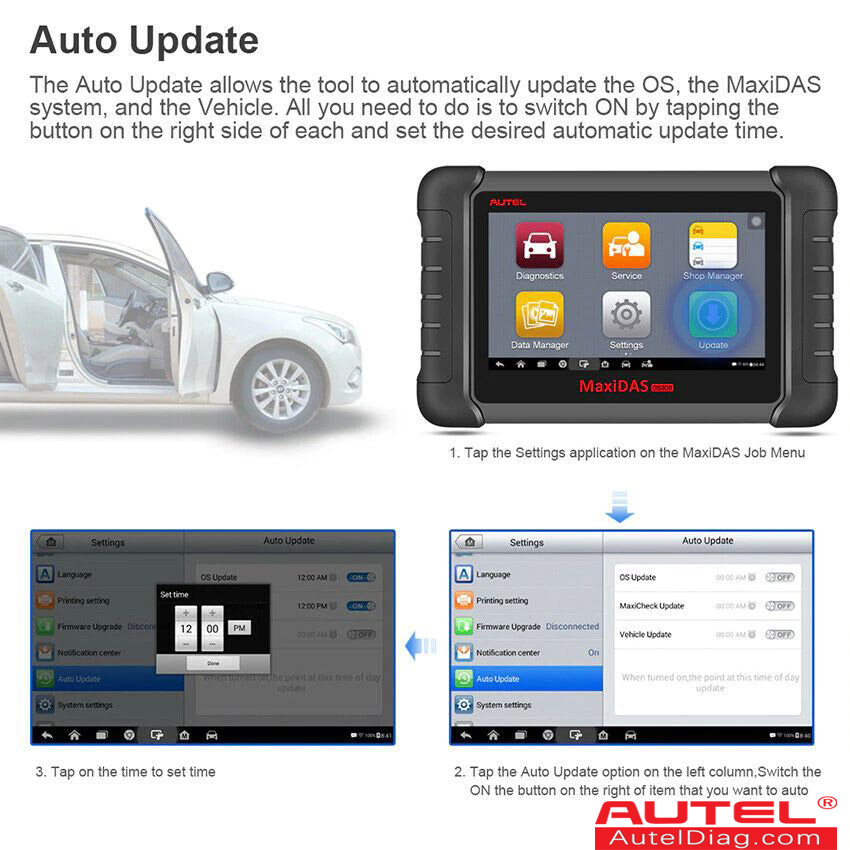 autel ds808k auto update