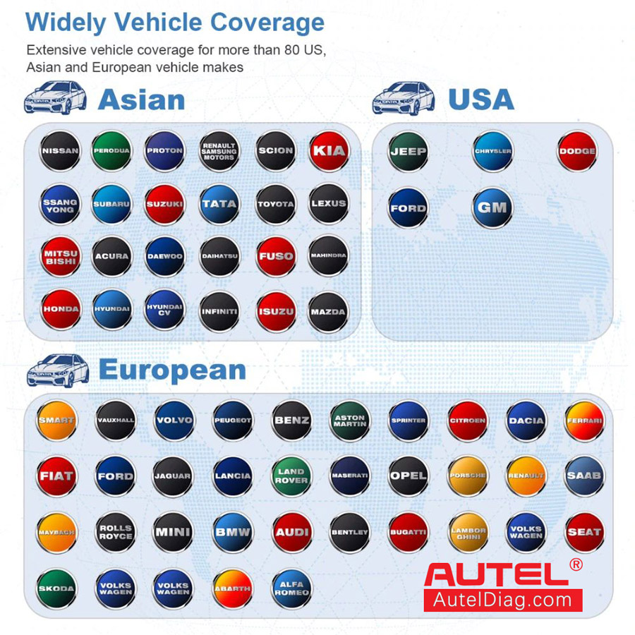 autel ds808k car list