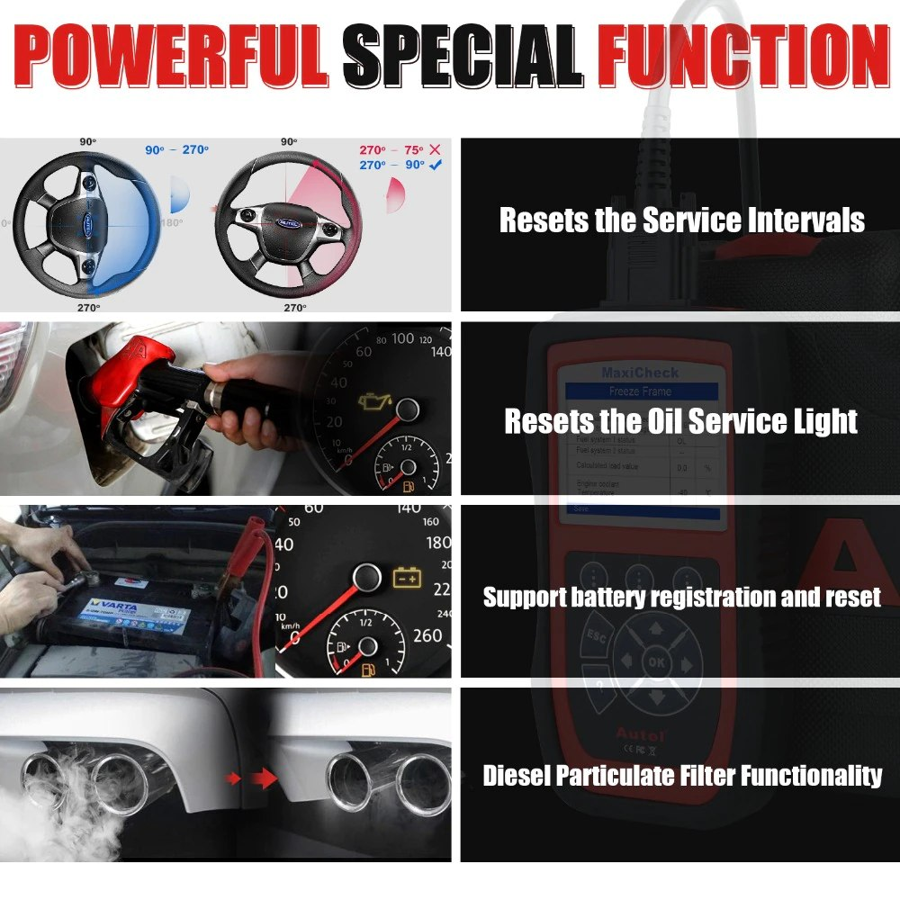 Autel MaxiCheck Pro special functions