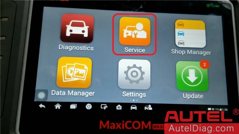 Autel MK808 Diagnostic Tool to program a key for Acura TSX02
