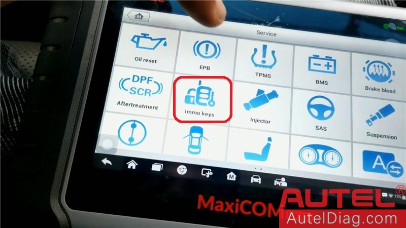 Autel MK808 Diagnostic Tool to program a key for Acura TSX 03