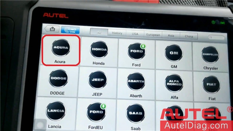 Autel MK808 Diagnostic Tool to program a key for Acura TSX 04