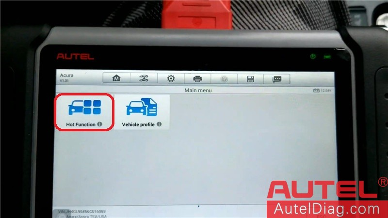 Autel MK808 Diagnostic Tool to program a key for Acura TSX 06